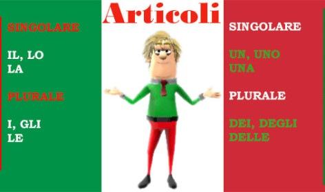 Learn Italian articles