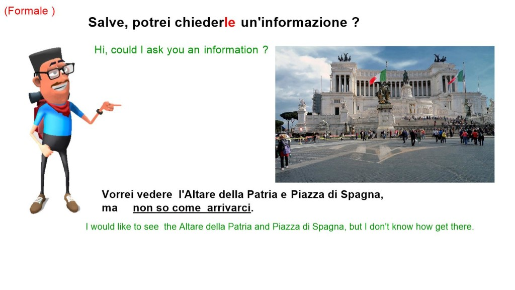 Asking for directions in italian language