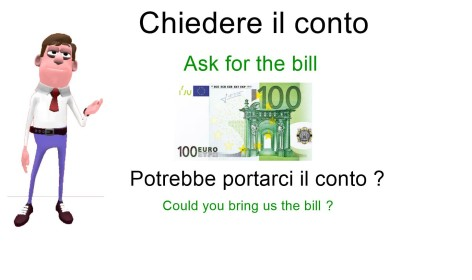 How to ask for the bill in italian
