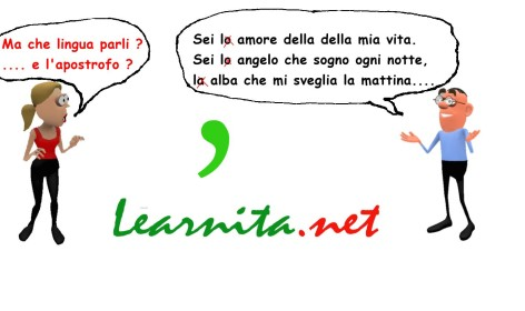 Use of apostrophe in italian