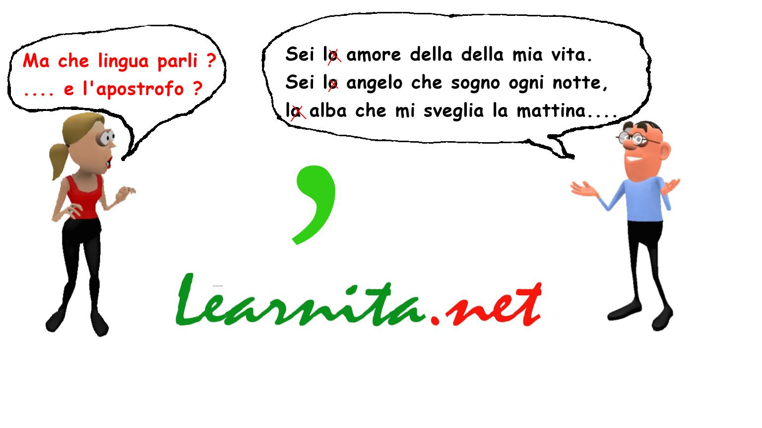 use of apostrophe in italian language