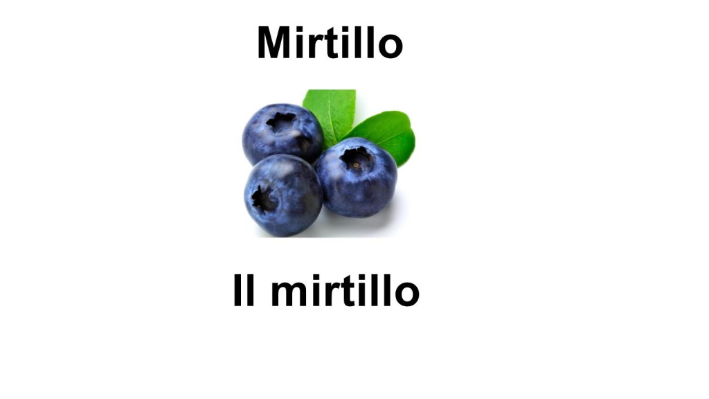 Names of fruits Mirtillo