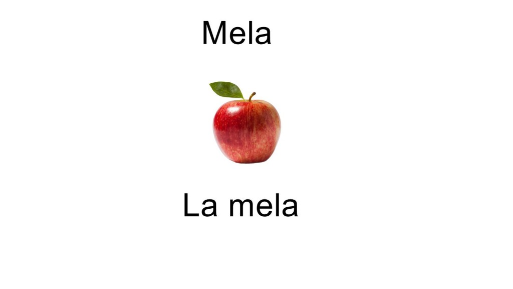 Names of fruits - La mela