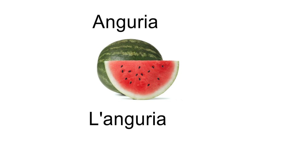 Names of fruits Anguria