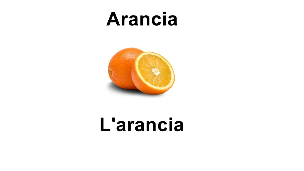 Names of fruits Orange