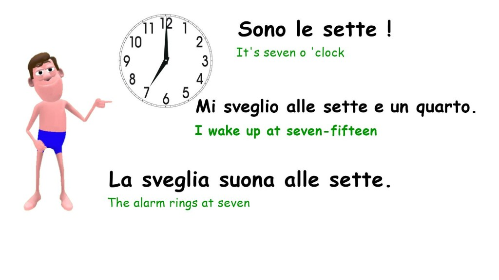 Daily routine in italian - Mi sveglio alle sette