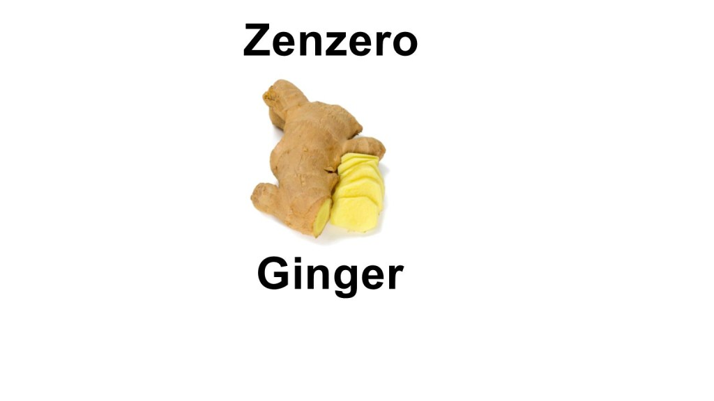 Names of vegetables - ginger