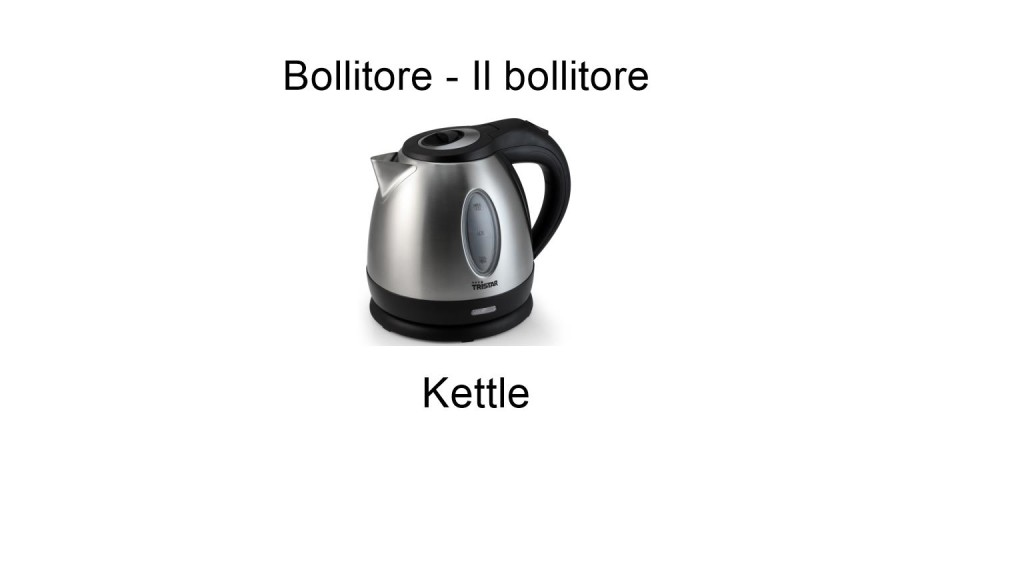 Names Of Household Items In Italian