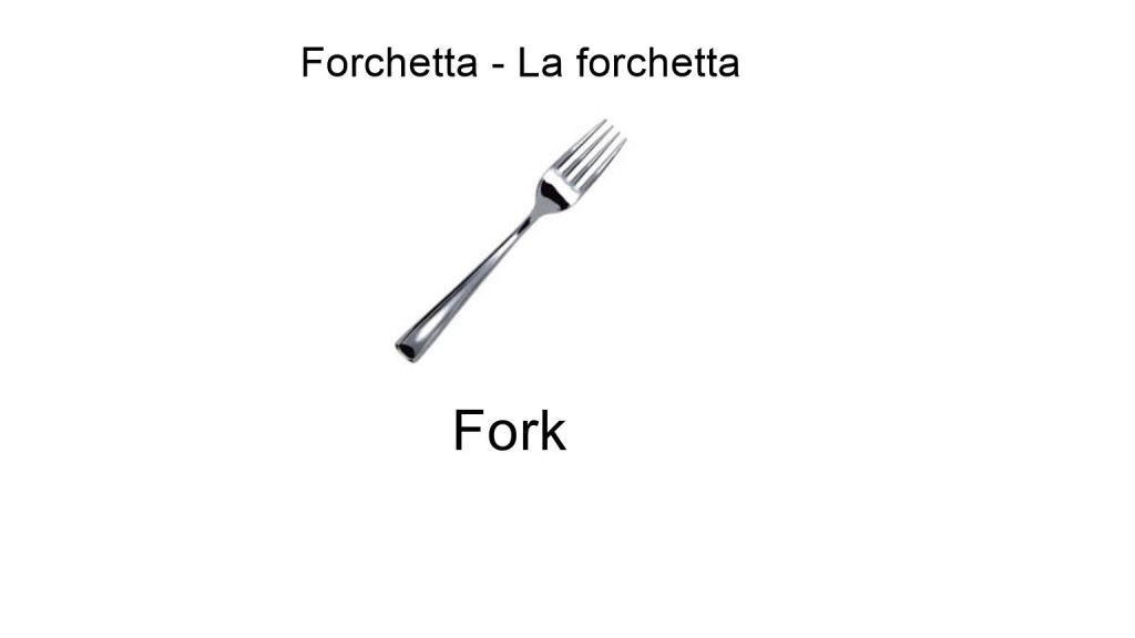 Fork in italian