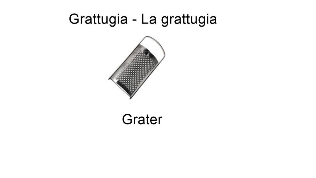 Grater in italian language