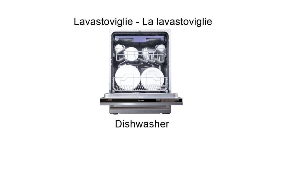 Dishwasher in italian