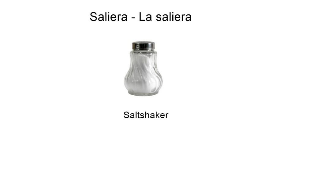 Saliera - La saliera - Saltshaker