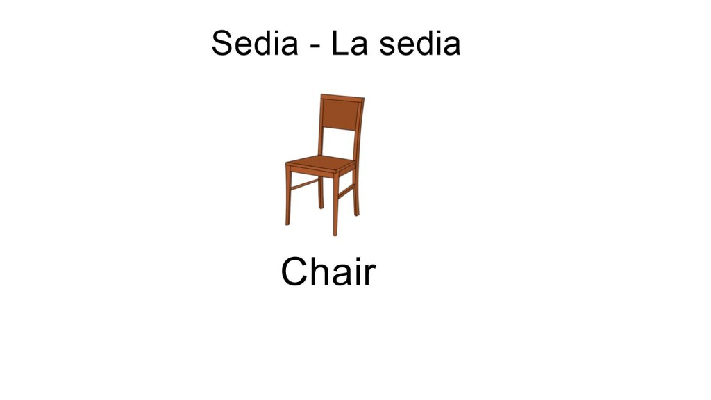 house items - chair
