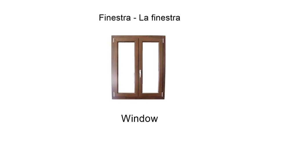 Window in italian - finestra