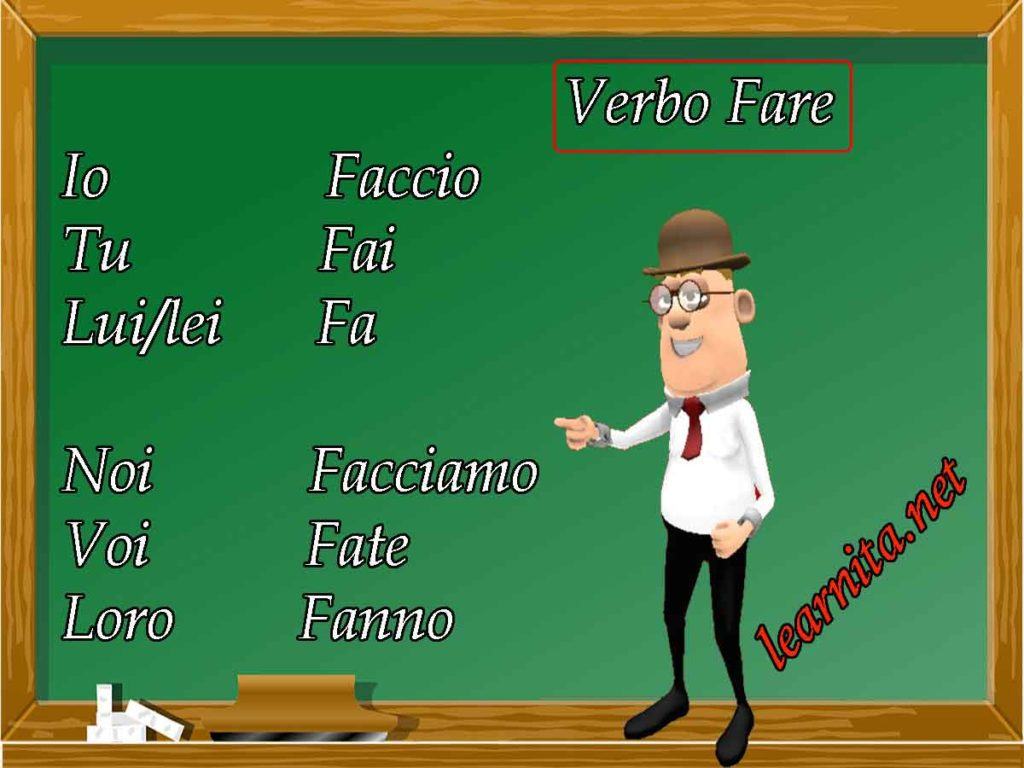 Italian Verbs Fare How To Use Verb Fare In Italian