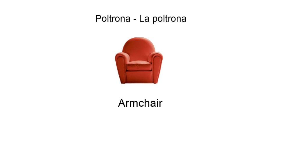 Armchair in italian