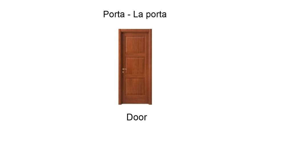 Door in italian