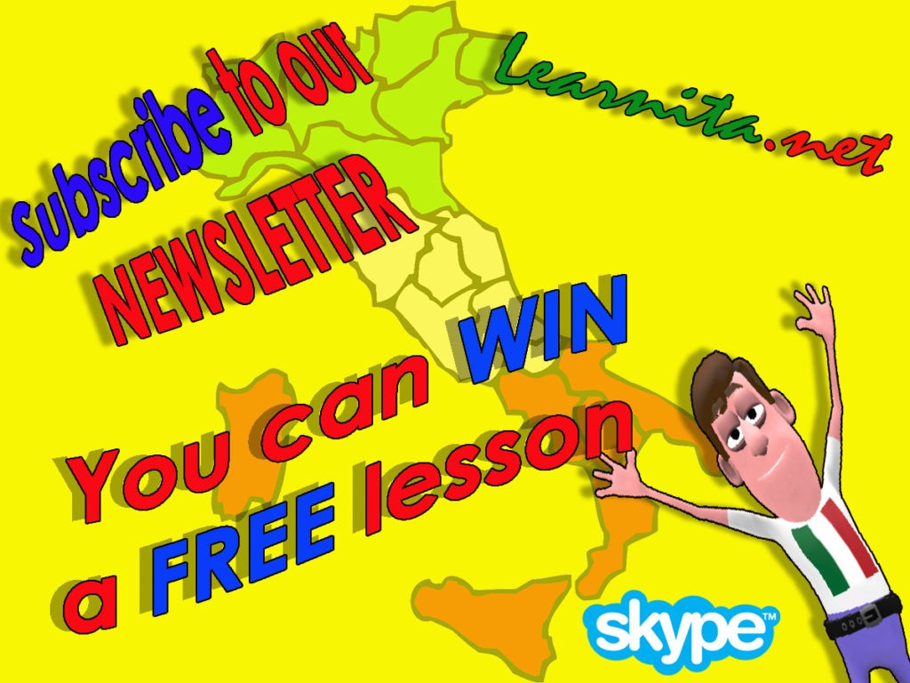 Free italian lesson on Skype