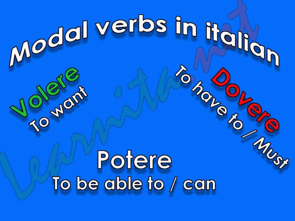 Modal verbs in italian