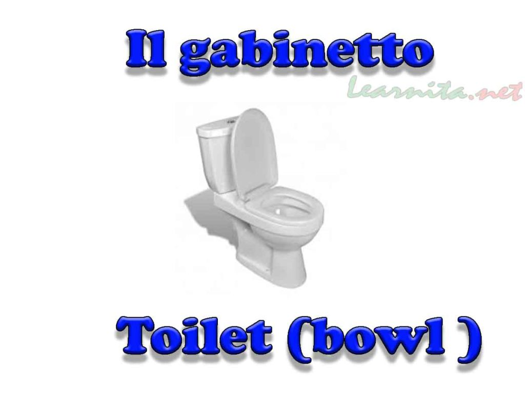 Names Of Bathroom Items In Italian Lesson 3