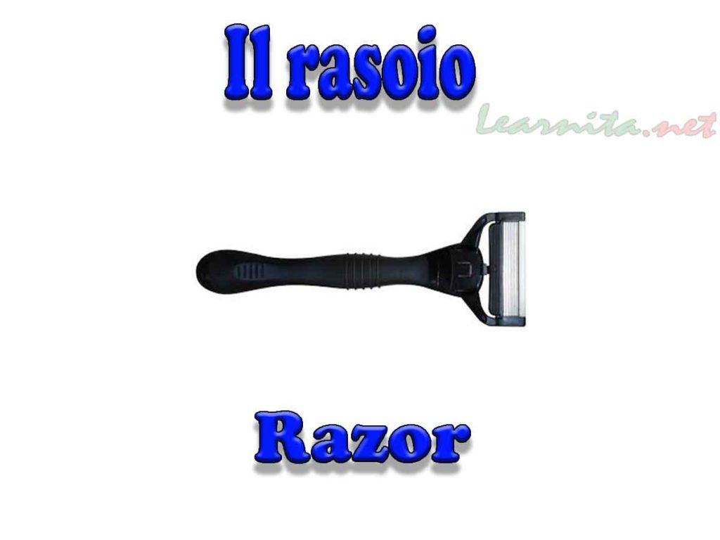 Razor in italian - Rasoio