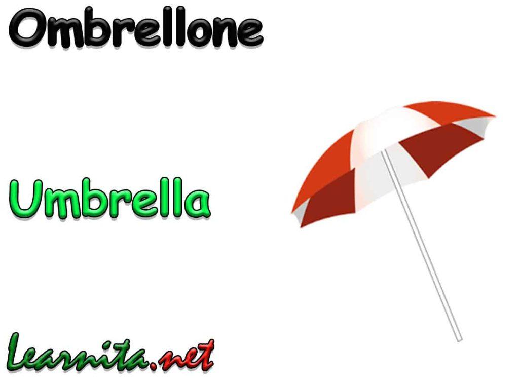 umbrella in italian