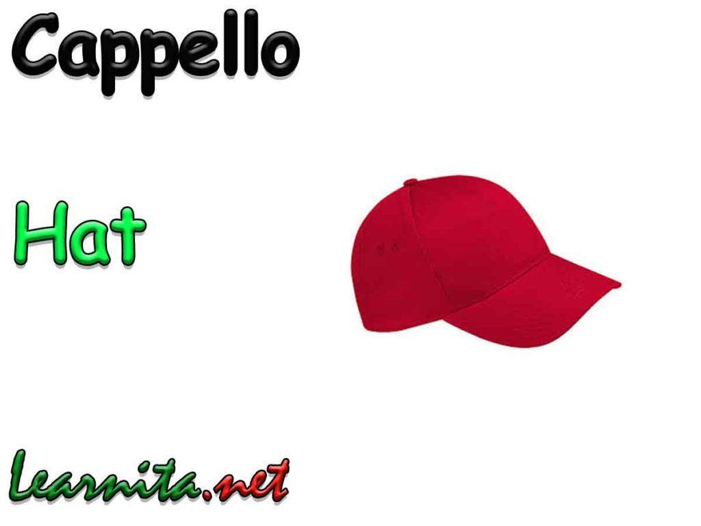 Hat in italian - cappello