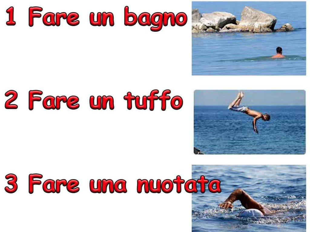 swiming in italian