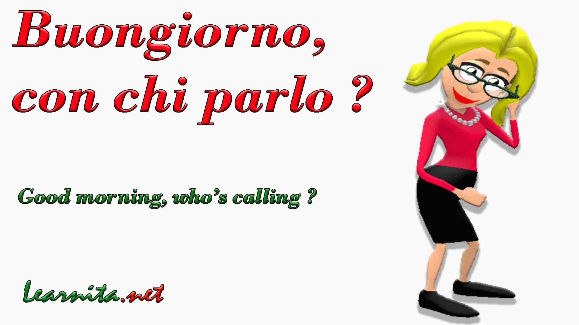 Telephone conversation in italian