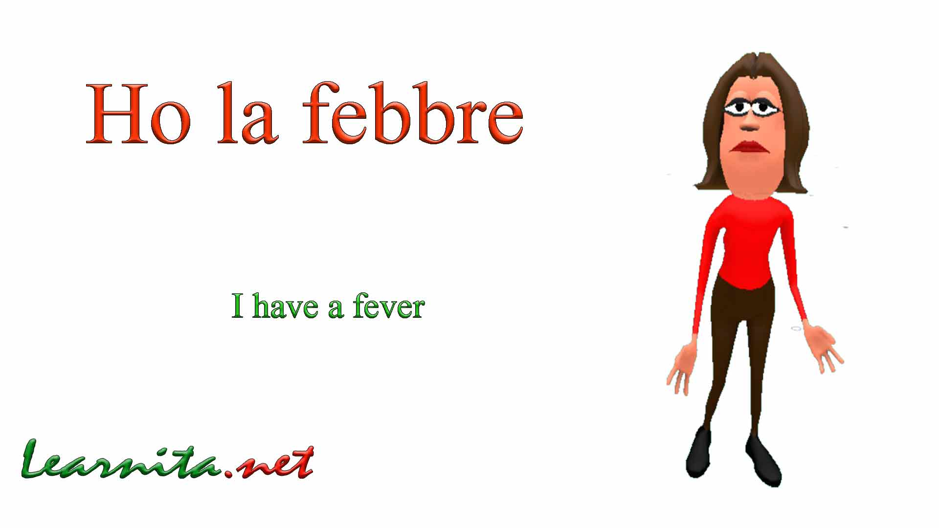 Have a fever in italian