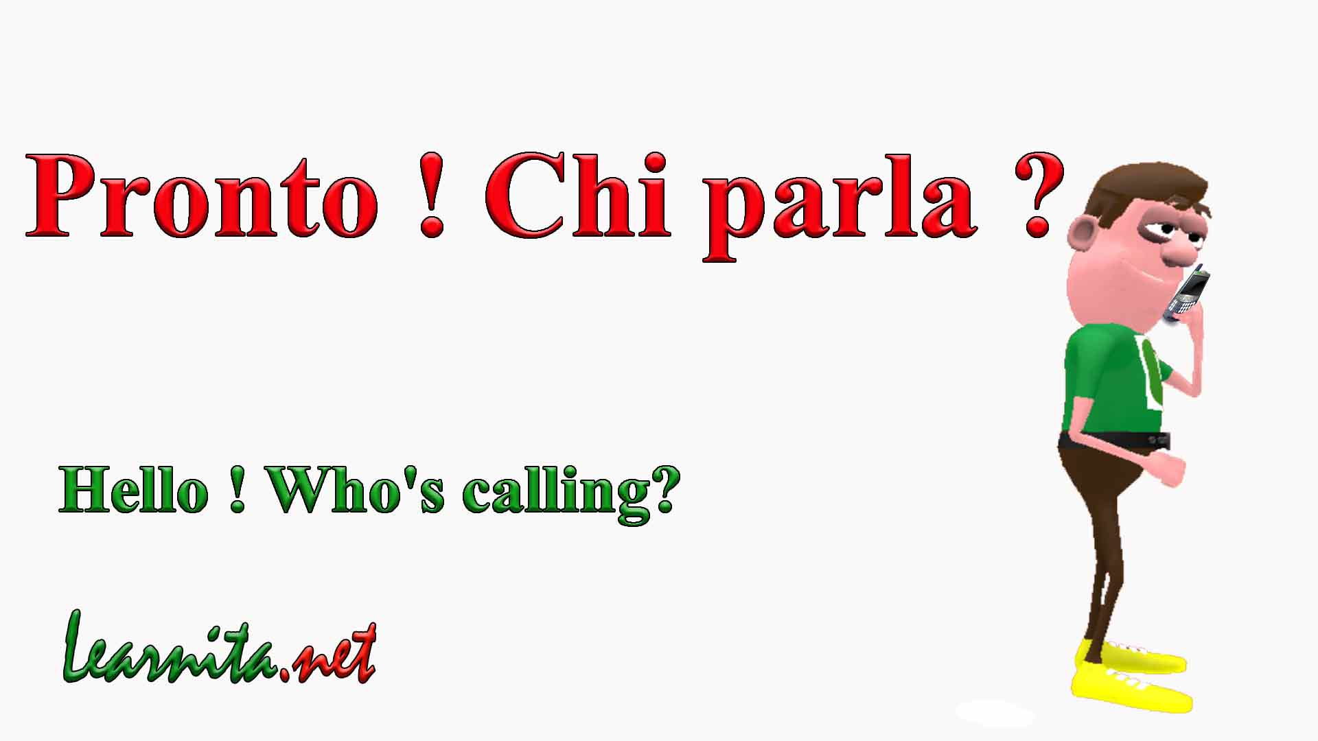 how to say phone call in italian