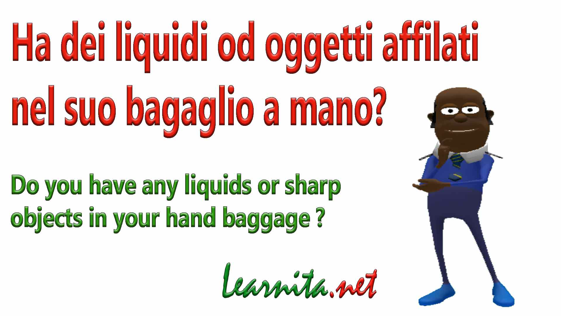 Italian phrases at the airport