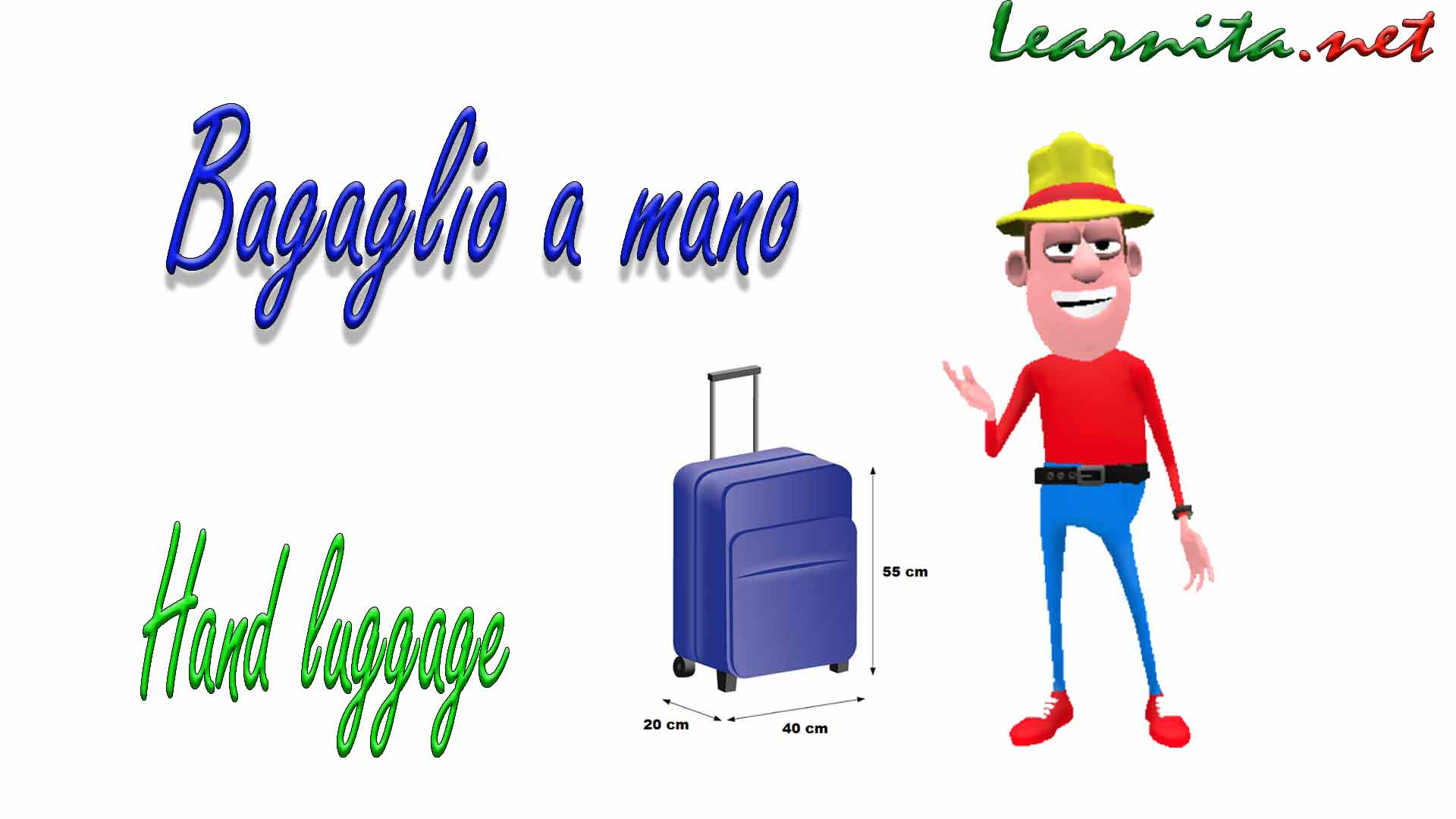 hand baggage in italian